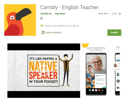 BEST ENGLISH LEARNING MOBILE APPLICATION